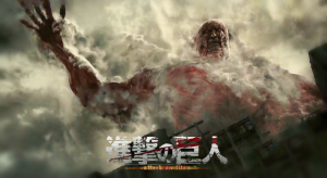 The iconic Colossal Titan as portrayed in the live action Attack on Titan film - perhaps a foreshadowing of how Higuchi will bring Godzilla to life in CGI
