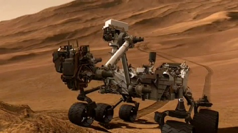 Mars Curiosity rover tests soil scooping system