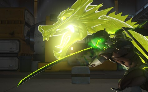 Genji's Ultimate ability has him slicing and dicing through his enemies.