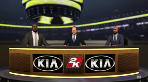 I think Shaq should be a little taller, even sitting...